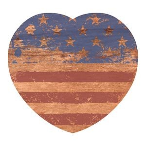 "Wood Decals | 3""x2.75 heart shape 
