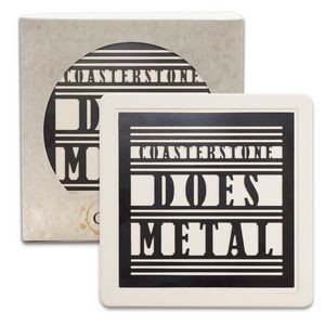 Metal Insert Absorbent Coaster