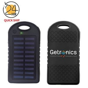 Solar Power Bank - 4000mAh 2 USB Ports, LED light, UL certified